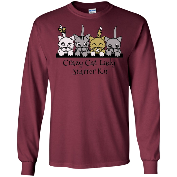 Crazy Cat Lady Starter Kit LS Ultra Cotton T-Shirt