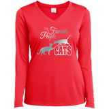 My Favorite People are Cats Ladies LS Performance V-Neck T-Shirt