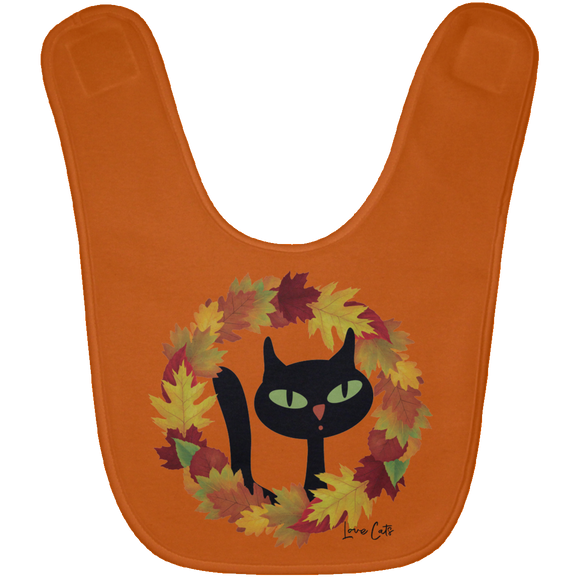 Victor in Fall Wreath Baby Bib