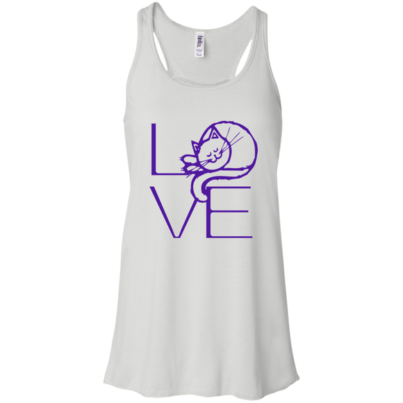 LOVE Cat Flowy Racerback Tank