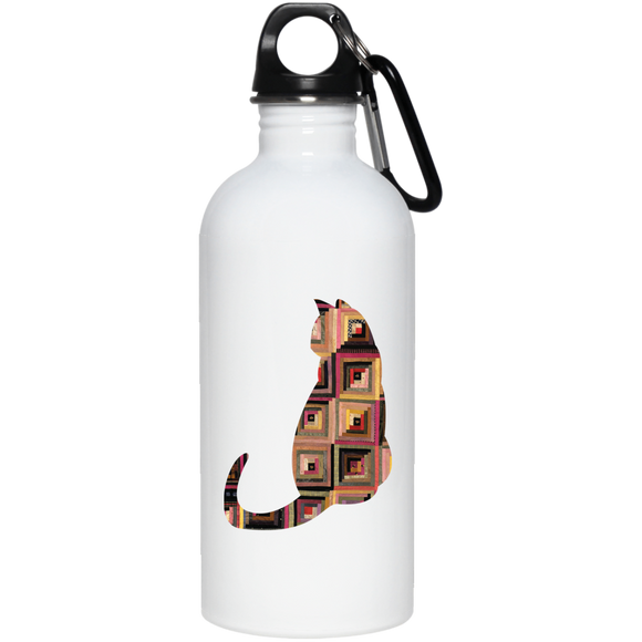 Log Cabin Cat 20 oz. Stainless Steel Water Bottle