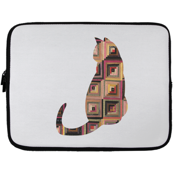 Log Cabin Cat Laptop Sleeve - 13 inch