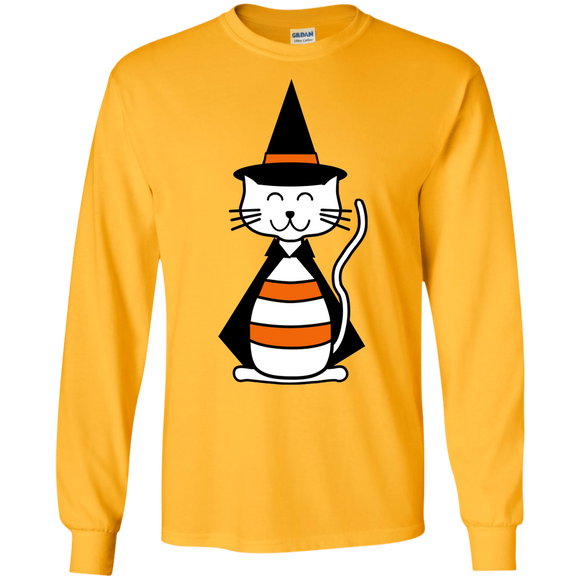 Witch Cat LS Ultra Cotton T-Shirt