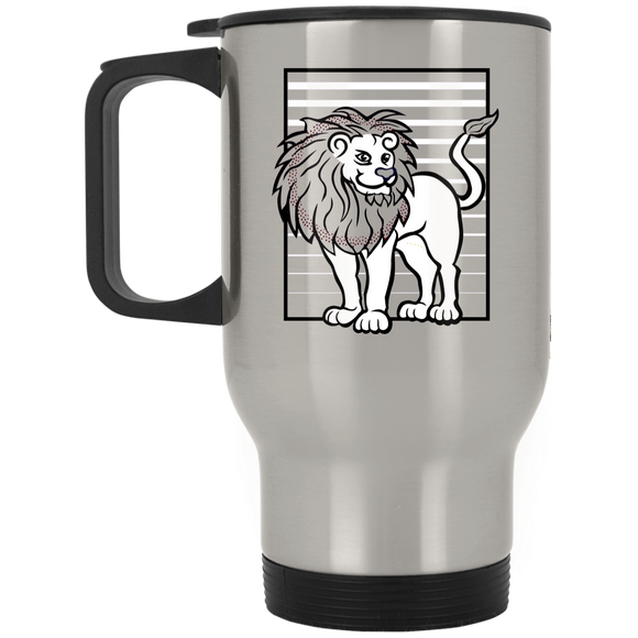 Lion Stripes Stainless Steel Travel Mug