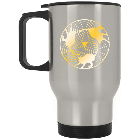 Cat Triskelion Stainless Steel Travel Mug