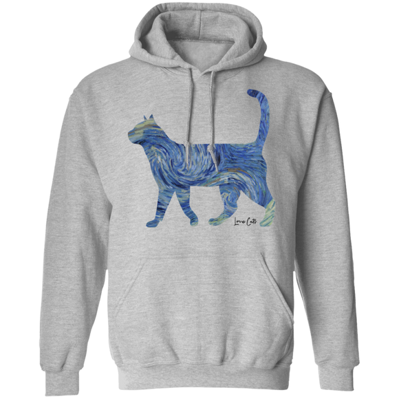 Starry Night Tabby Pullover Hoodie