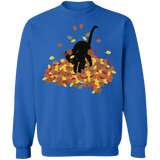 Cat in Leaves Crewneck Pullover Sweatshirt
