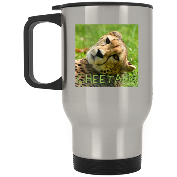 Cheetah Stainless Steel Travel Mug