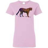 Colorful Cheetah Ladies Cotton T-Shirt