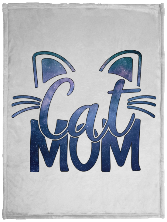 Cat Mom Cozy Plush Fleece Blankets