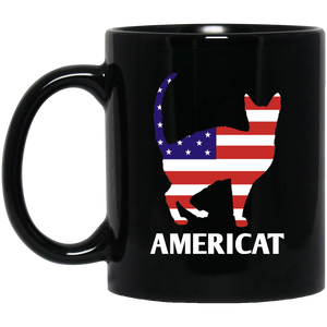 Americat 11 and 15 oz Black Mugs