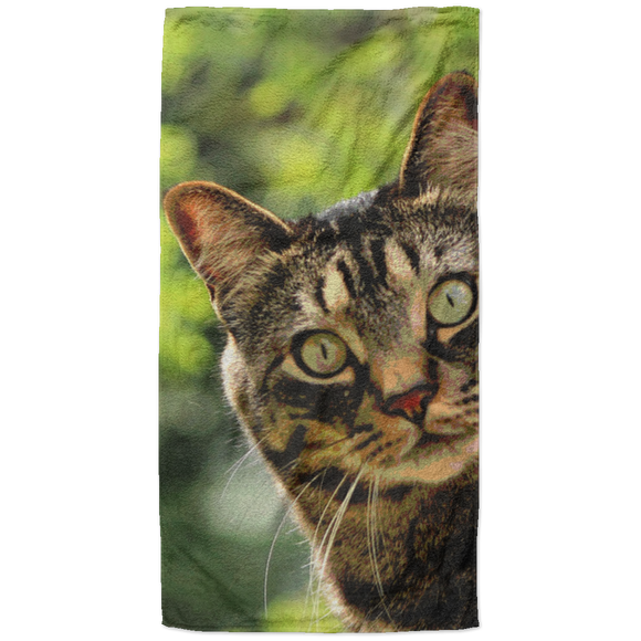 Tabby Cat Beach Towel - 37x74