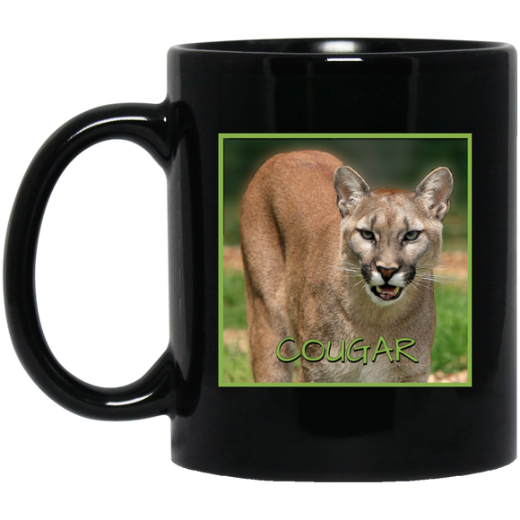 Cougar Square 11 and 15 oz Black Mugs