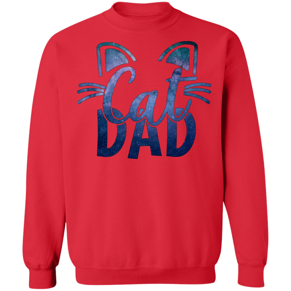 Cat Dad Crewneck Pullover Sweatshirt