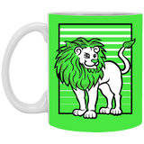Lion Stripes White Mugs