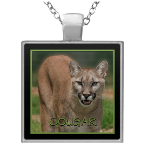 Cougar Square Square Pendant Necklace