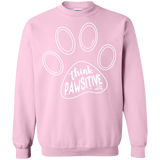 Think Pawsitive Crewneck Pullover Sweatshirt