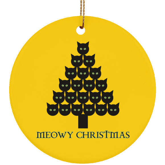 Meowy Christmas Tree Ceramic Ornaments in 4 Shapes