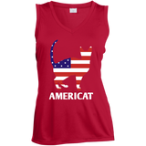 Americat Ladies Sleeveless Moisture Absorbing V-Neck