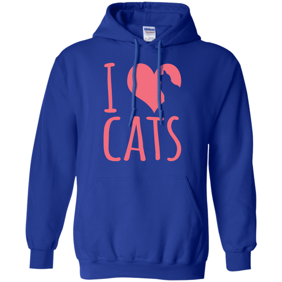 I Heart Cats Pullover Hoodie