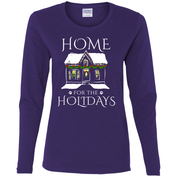 Home for the Holidays Ladies Long Sleeve T-shirts