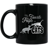 My Favorite People are Cats 11 and 15 oz Black Mugs
