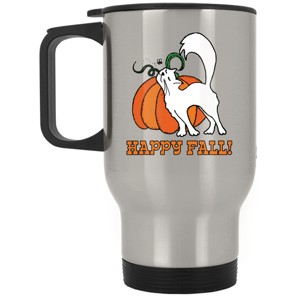 Happy Fall! Stainless Steel Travel Mug
