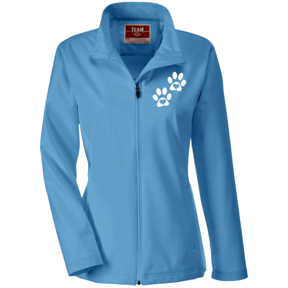 Heart Paw Print Ladies' Soft Shell Waterproof Jacket