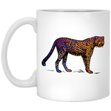 Colorful Cheetah 11 and 15 oz White Mugs
