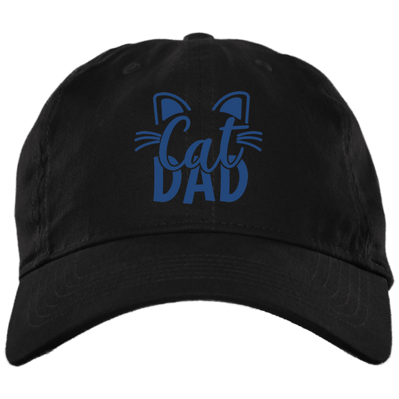 Cat Dad Brushed Twill Unstructured Dad Cap