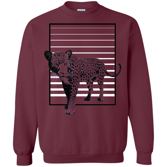 Black Panther Stripes Crewneck Pullover Sweatshirt