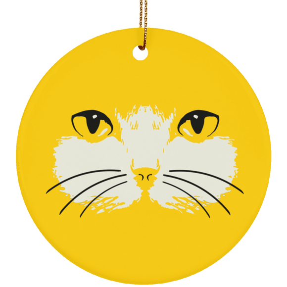 Cat Face Ceramic Ornaments in 4 Shapes