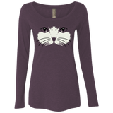 Cat Face Ladies Long Sleeve T-shirts
