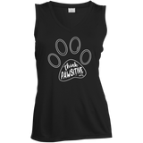Think Pawsitive Ladies' Sleeveless Moisture Absorbing V-Neck