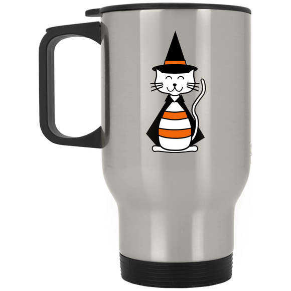 Witch Cat Stainless Steel Travel Mug