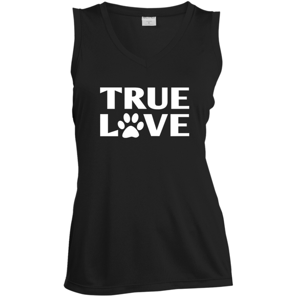 TRUE LOVE Ladies Sleeveless Moisture Absorbing V-Neck