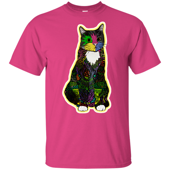 Colorful Tuxedo Cat Youth Ultra Cotton T-Shirt