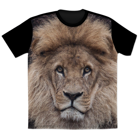 Lion Face All Over Print T-Shirt