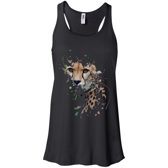 Disappearing Cheetah Flowy Racerback Tank
