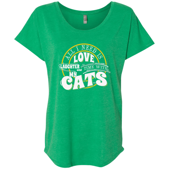 TIME with My Cats Ladies Triblend Dolman Sleeve