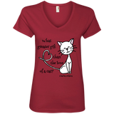 Dickens Cat Ladies V-Neck T-Shirt