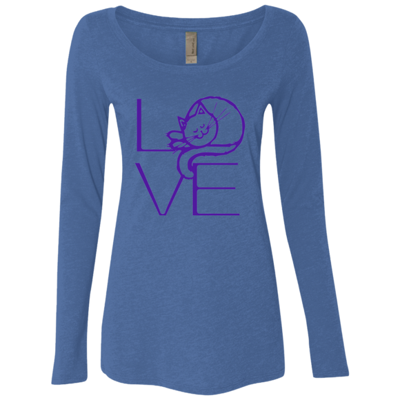 LOVE Cat Ladies Triblend LS Scoop