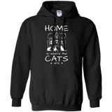 Home is Where the Cats Are Pullover Hoodie