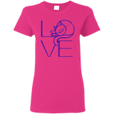 LOVE Cat Ladies Cotton T-Shirt