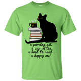 Cat-Tea-Book-Happy Ultra Cotton T-Shirt