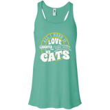 TIME with My Cats Flowy Racerback Tank