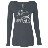 My Favorite People are Cats Ladies Triblend LS Scoop