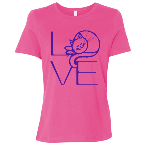 LOVE Cat Ladies Relaxed Jersey Short-Sleeve T-Shirt