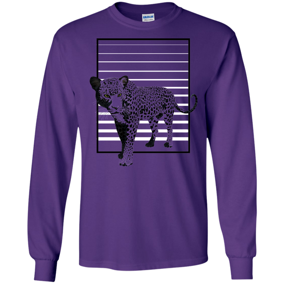 Black Panther Stripes LS Ultra Cotton T-Shirt