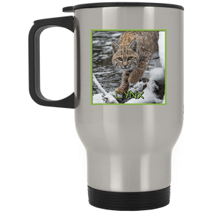 Lynx Square Stainless Steel Travel Mug